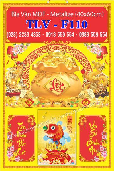 Bìa Lịch Metalize Phước Lộc Thọ